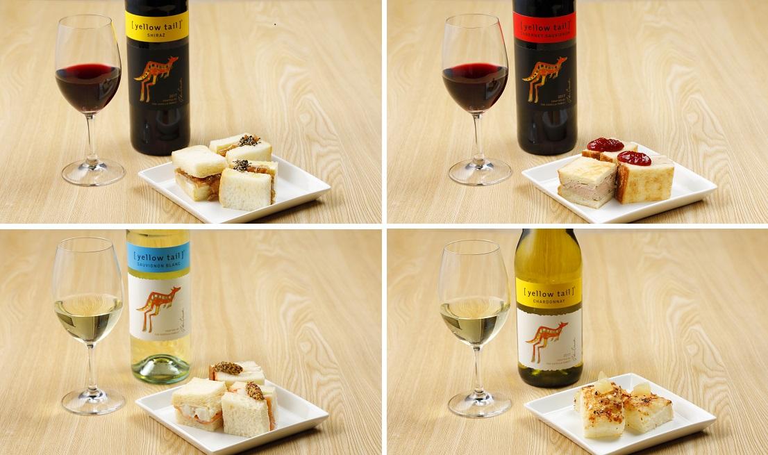 WINE AVENUE(ワインアベニュー)2019オリジナルの俺のBakery&Caféとサッポロビールコラボのオリジナルサンドイッチ4種と相性抜群の[イエローテイル]のワイン