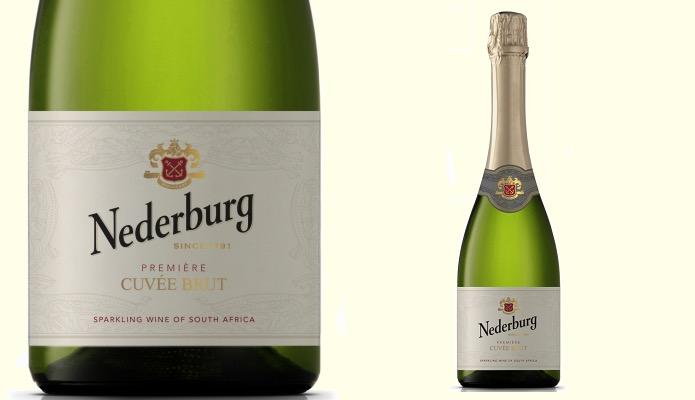 ディステル ネダバーグ キュヴェ・ブリュットのラベルとワインボトル