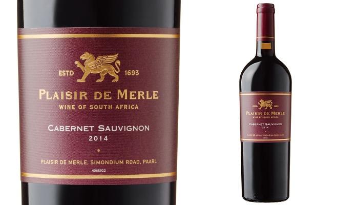ディステル プレジール・ド・メール・カベルネ・ソーヴィニヨンのラベルとワイン