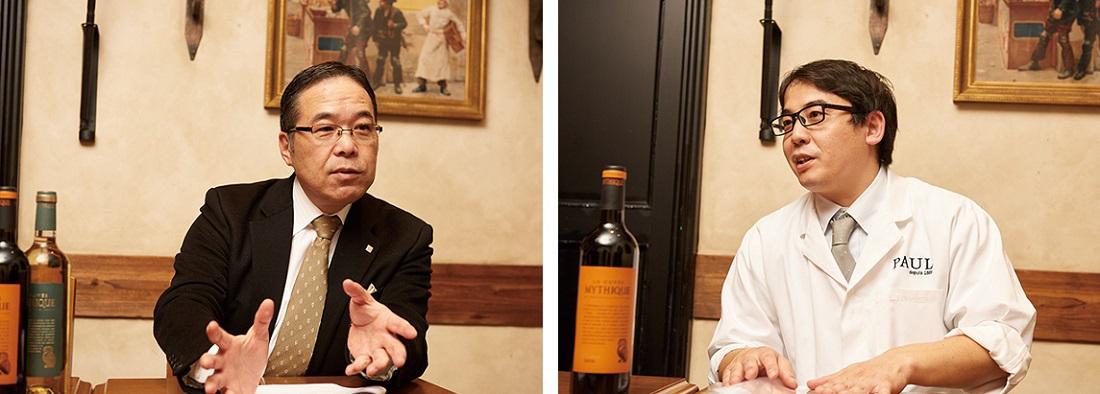 ワインのプロ、サッポロビール㈱荻原氏 ×PAUL 大久保シェフ