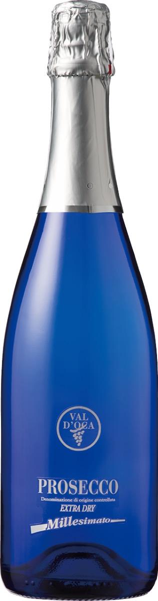 ヴァル・ドッカ プロセッコDOCエクストラ ドライ ブルー ミレジマートのワインボトル