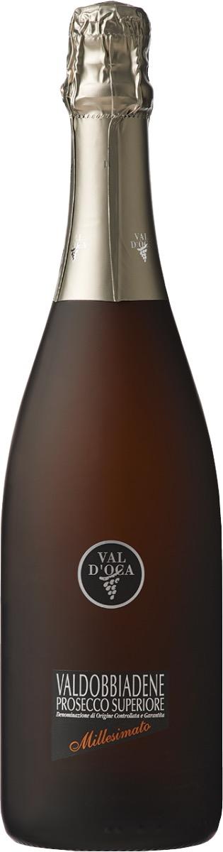 ヴァル・ドッカ ヴァルドッビアーデネ プロセッコ スペリオーレDOCG エクストラ ドライ ミレジマートのワインボトル