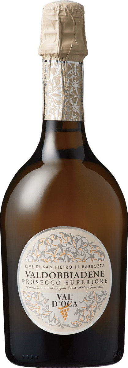 ヴァル・ドッカ ヴァルドッビアーデネ プロセッコ スペリオーレDOCGブリュット リーヴェ・ディ・サン ピエトロ ディ バルボッザのワインボトル