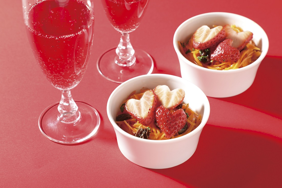 苺のワインと楽しみたい簡単レシピ、苺とにんじんのラぺ