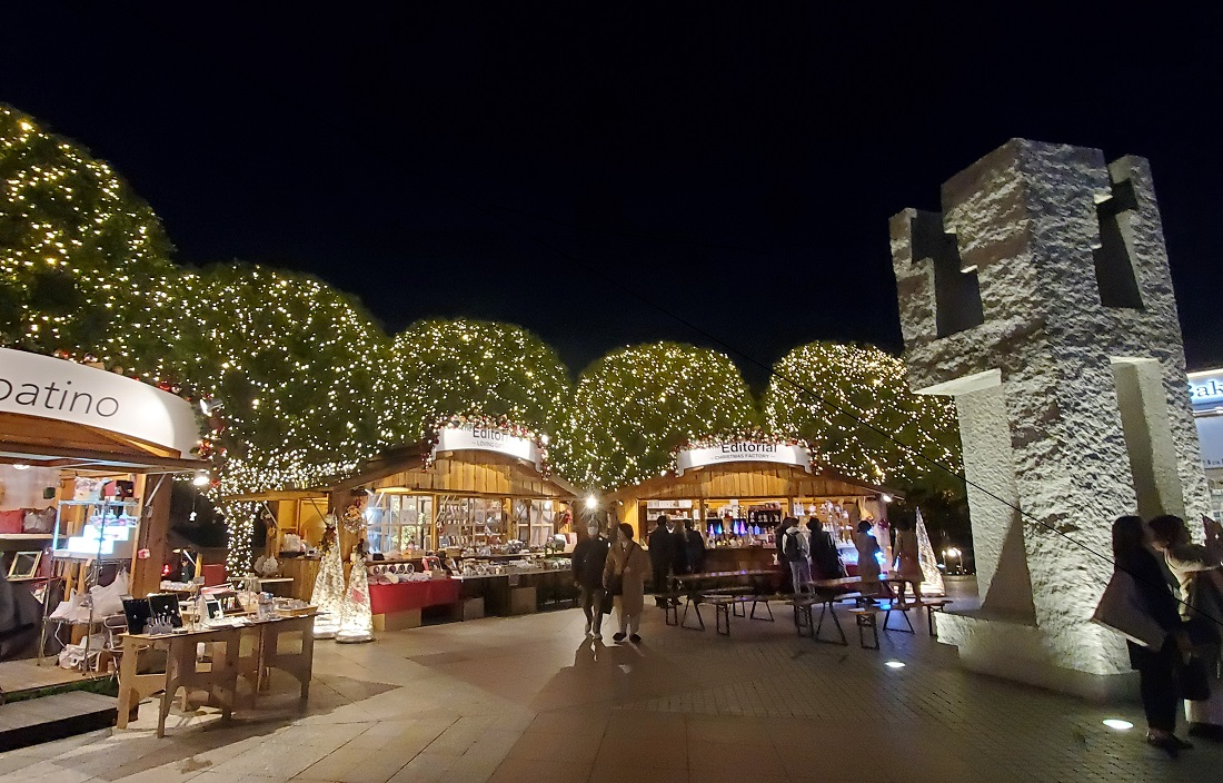 恵比寿ガーデンプレイスのウインターイルミネーション2019のクリスマスショップ