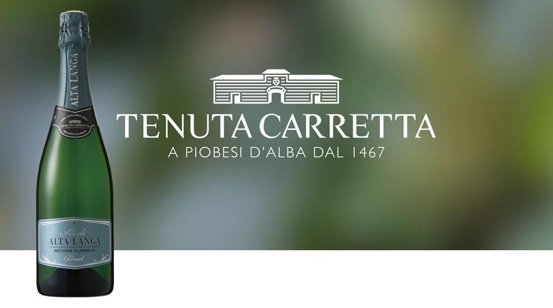 カレッタ アイラーリ アルタ・ランガ DOCGのボトルとテヌータ・カレッタのロゴ