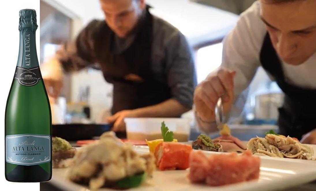 イタリア料理の乾杯と前菜に相性抜群のカレッタ アイラーリ アルタ・ランガ DOCG