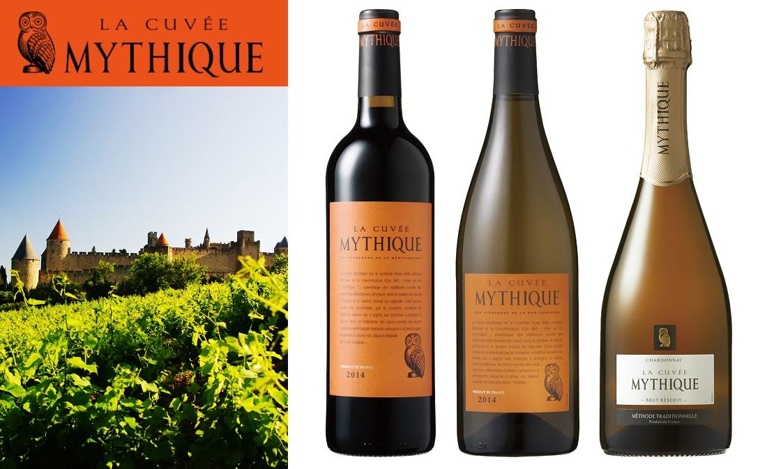 幸せのふくろうのロゴのワイン、ミティークのラインアップ