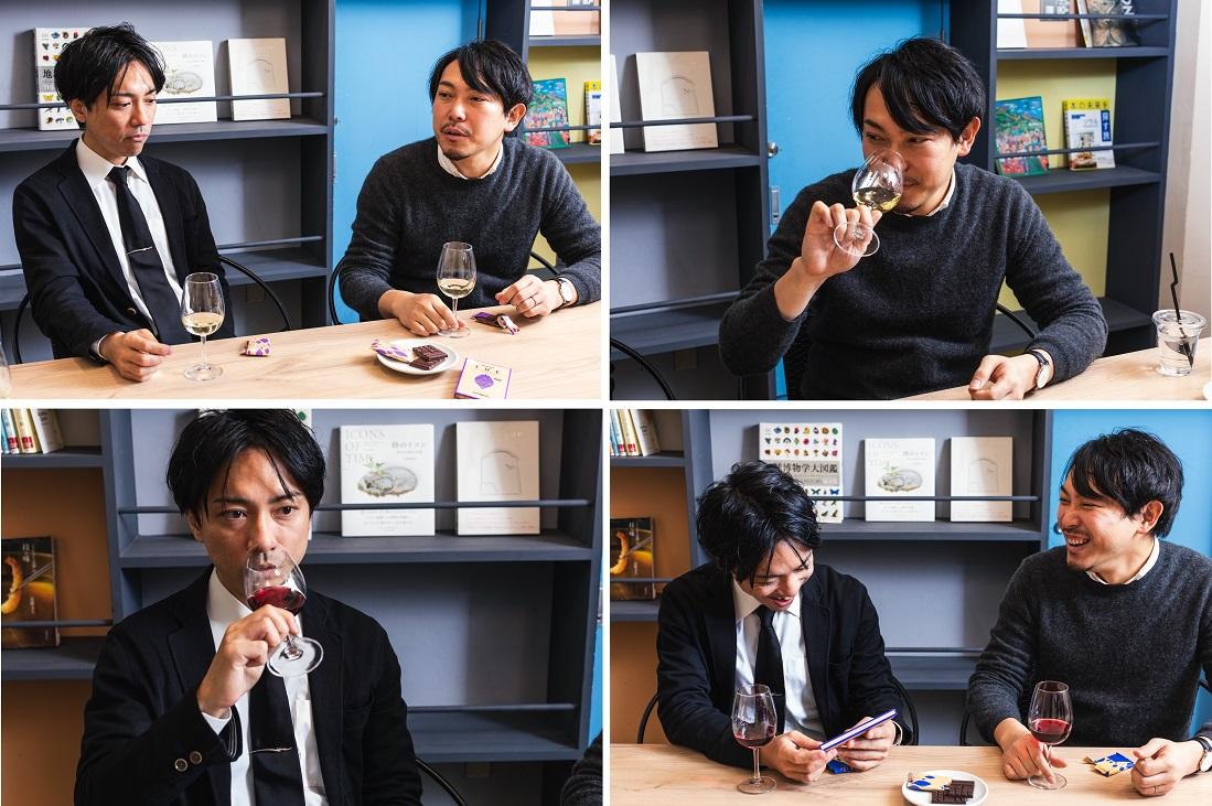 [イエローテイル]と明治 ザ・チョコレートのおすすめの組み合せを検証するD'RENTY CHOCOLATE代表 チョコレートソムリエ 森澤 祐介さんとワインyoutuber Yukioさん
