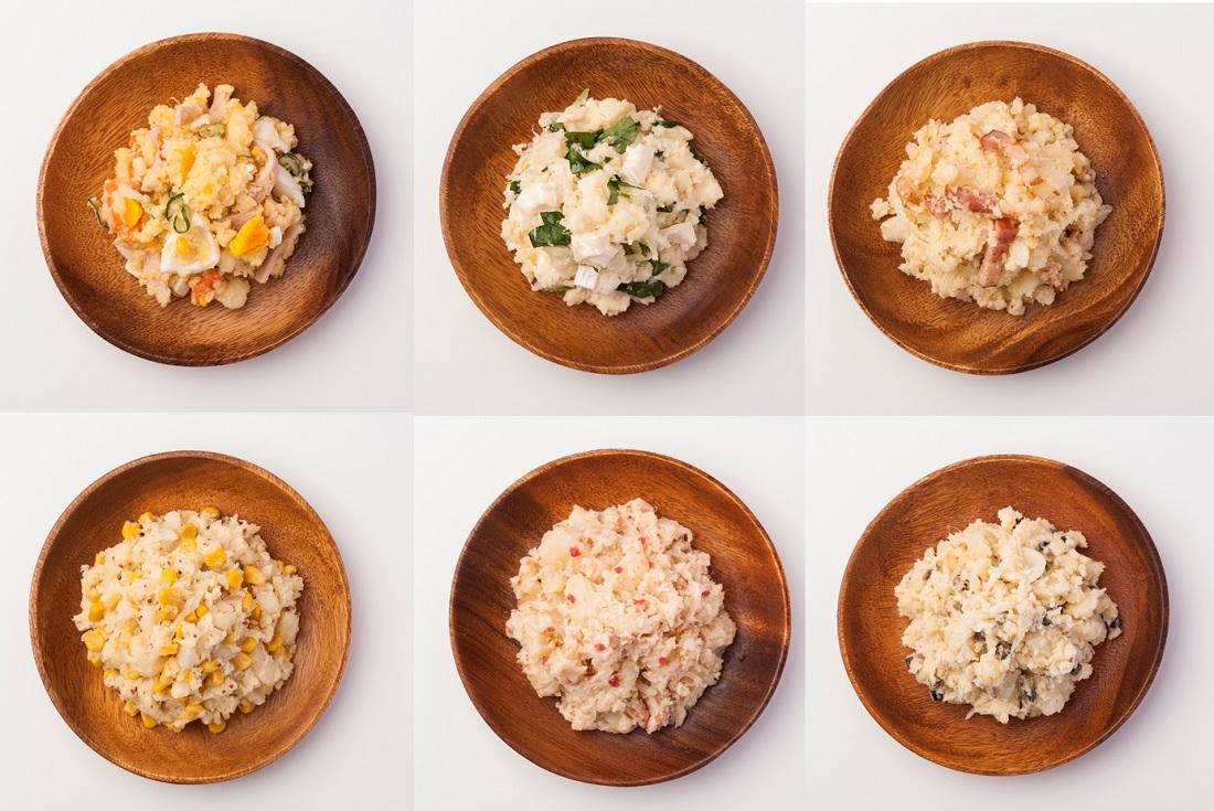 日本ポテトサラダ協会と行ったポテトサラダに合うワインの品評会にで試食したポテサラ6種