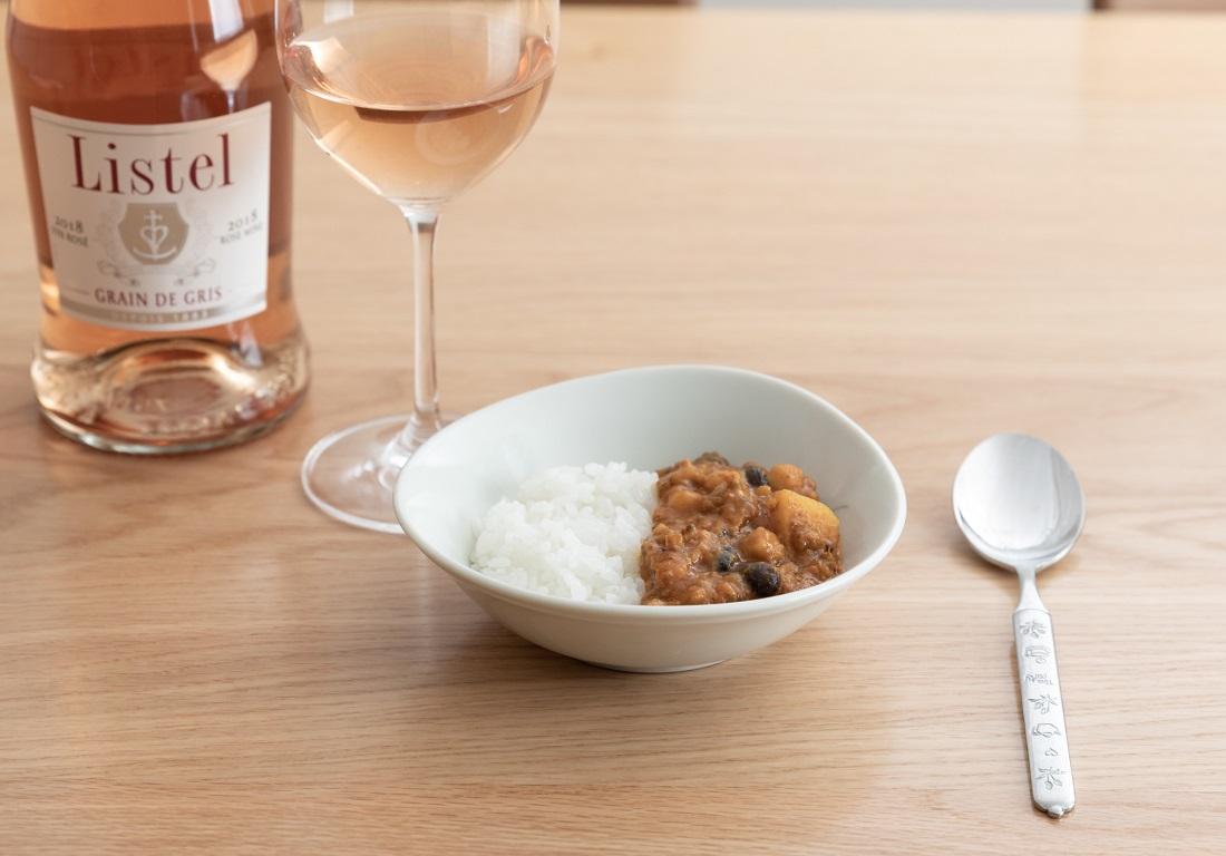 #やってみロゼ!カレー編のオンライン飲み会で検証したリステル グリ・グラン・ド・グリとキーマカレー
