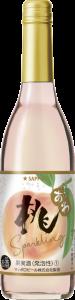 「桃のワインスパークリング」ワインボトル
