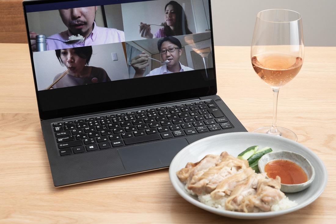 :#やってみロゼ!タイ料理編オンライン飲み会でカオマンガイとのペアリングを検証するメンバー