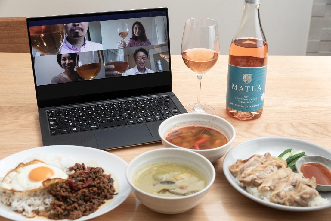#やってみロゼ!タイ料理編オンライン飲み会でマトゥア リージョナル ピノ・ノワール・ロゼ・マルボロとタイ料理をペアリング