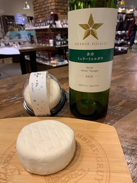 「ワインマーケットパーティー」が選ぶベストマリアージュ第2位「グランポレール 余市ミュラートゥルガウ 2019」×「雪子」