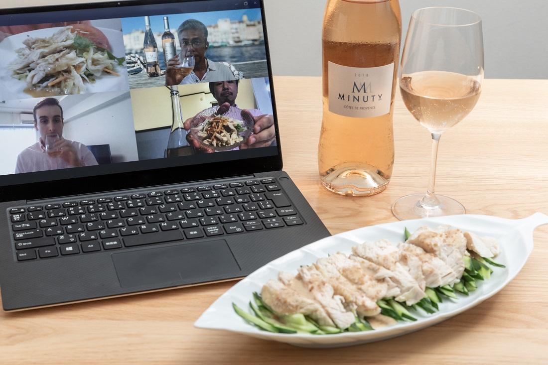 #やってみロゼ!中華料理編オンライン飲み会でペアリングしたバンバンジーとエム・ド・ミニュティー