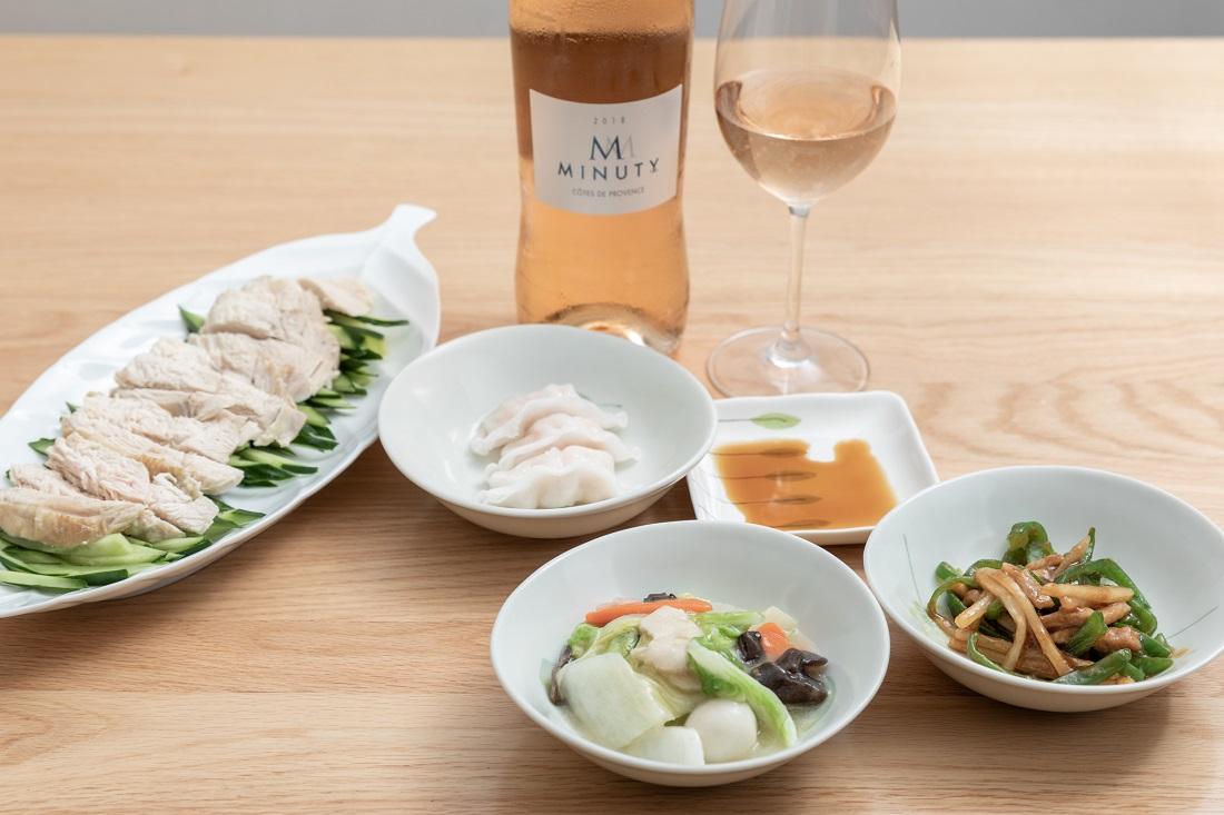 #やってみロゼ!中華料理編でエム・ド・ミニュティーと中華料理をペアリング