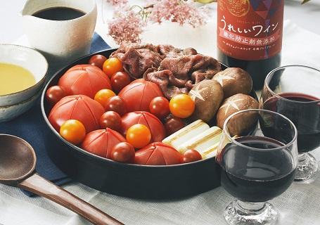 オーガニックワインと季節のお野菜のマリアージュ