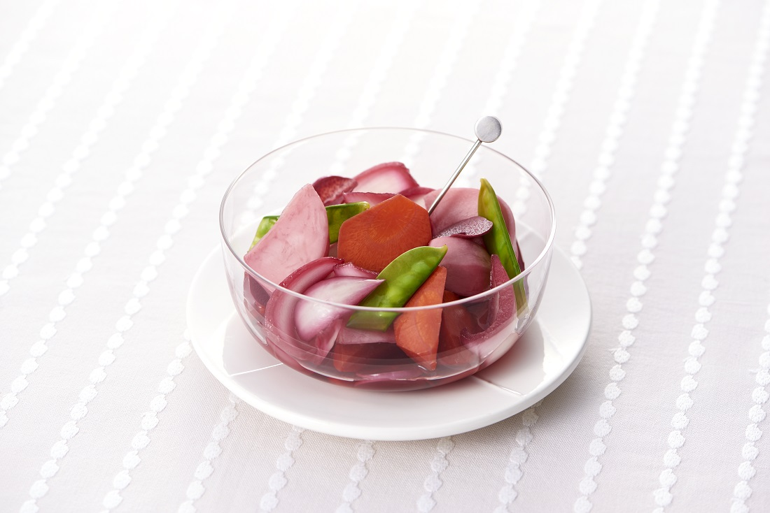 「保存袋に入れるだけ」春野菜とワインで楽しむポリフェノール(有機酸)習慣!「春野菜の赤ワインピクルス」