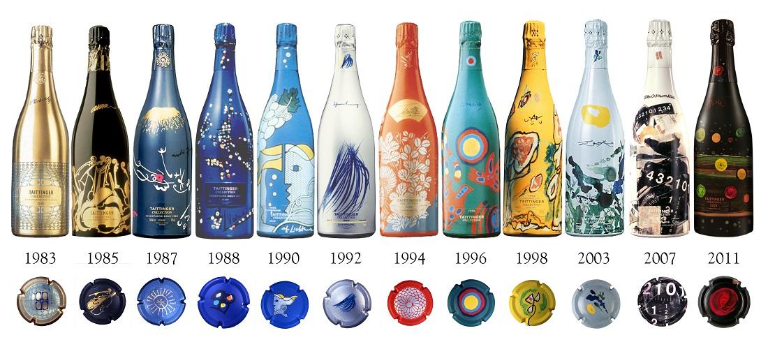 「テタンジェ・アート・コレクション」のワインボトル